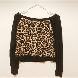 Streetwear Society cropped Leopard print top L